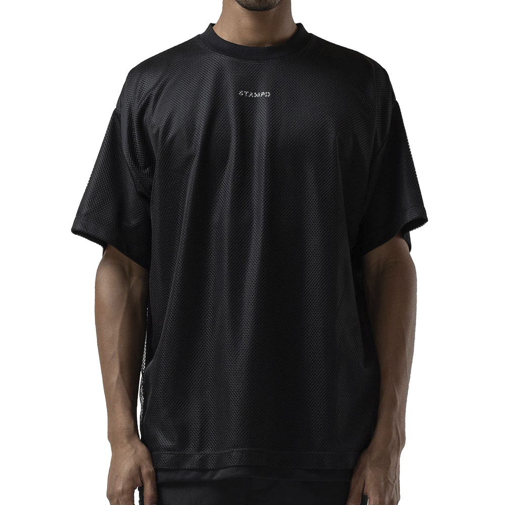 STAMPD Tシャツ Layered Mesh Tee S-M2486FT BLACK