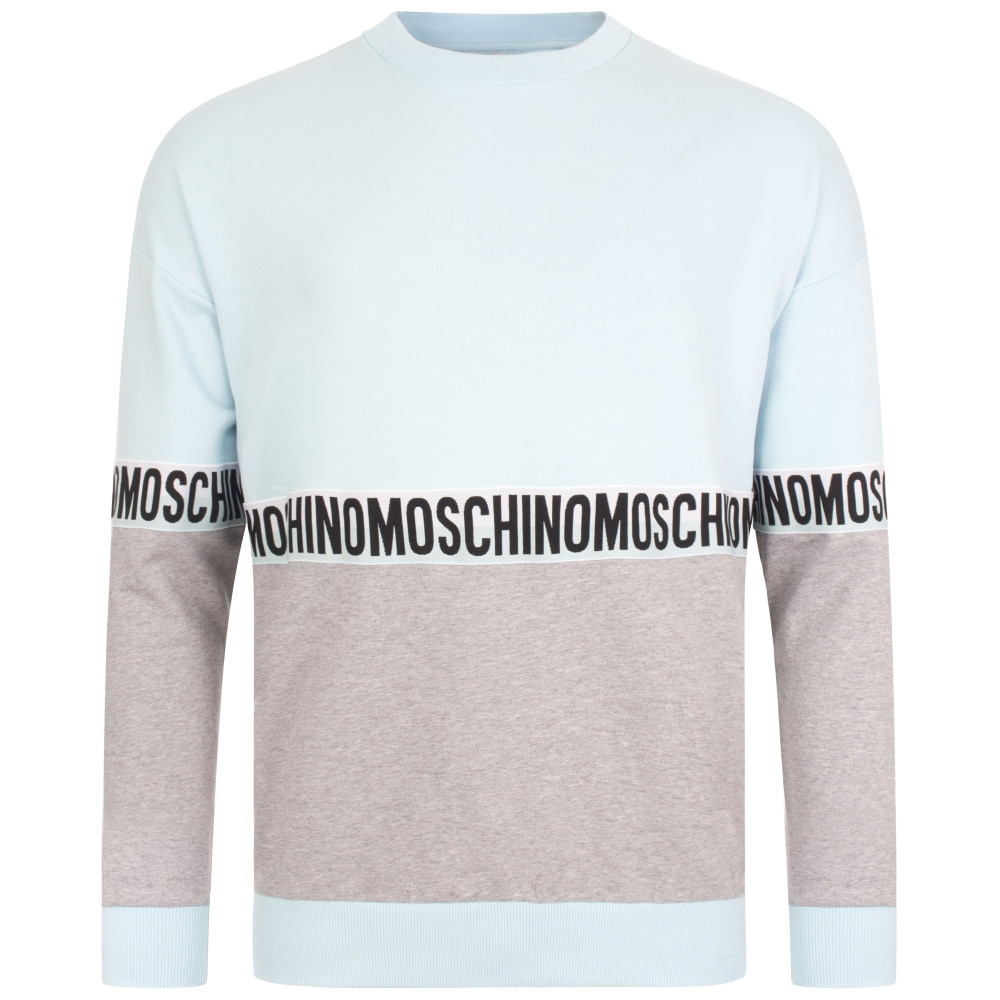 MOSCHINO UNDERWEAR ロンT 1810 8121 GREYxBLUE