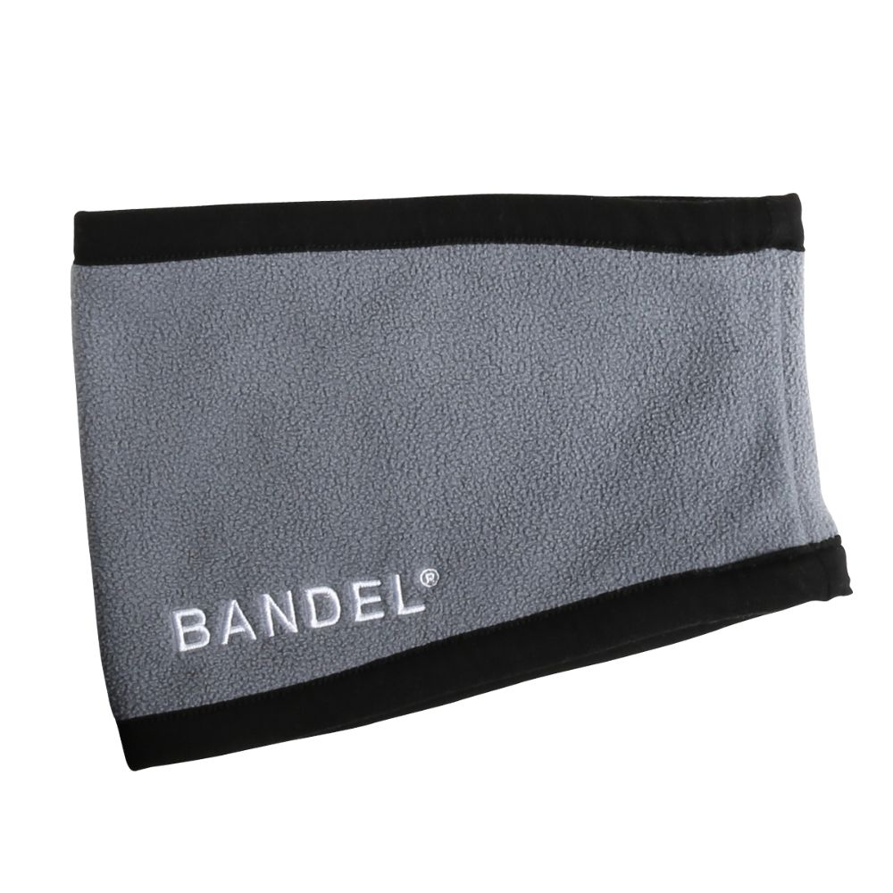 BANDEL ネックウォーマー micro fleece necwarmer GREYxBLACK