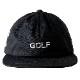 BANDEL キャップ WG GOLF FLAT VISOR GOLF CAP BG-GWFVCP BLACKxWHITE