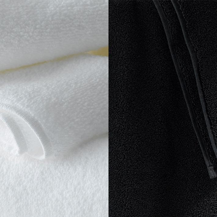 Micro Cotton マイクロコットン LUXURY ラグジュアリー バスタオル WHITE/BLACK