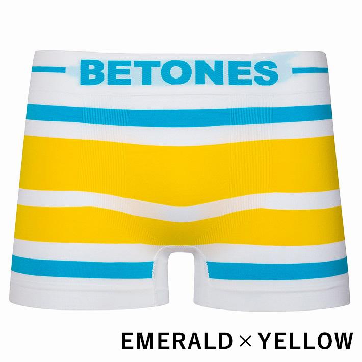 BETONES ボクサーパンツ AKER-B001 EMERALDxYELLOW