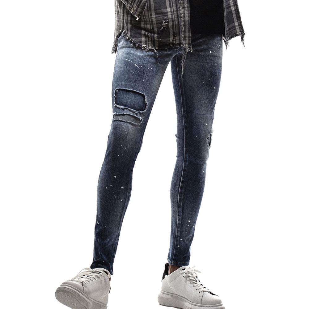 RESOUND CLOTHING パンツ Blind DENIM JERSEY RC18-ST-019 INDIGO B