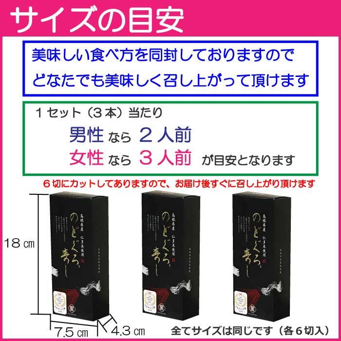 冷凍【のどぐろ寿司X3本セット】 日本ギフト大賞島根賞 送料込み 但し、北海道、沖縄県へのお届けは+770円