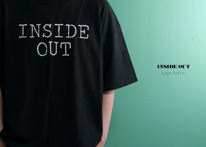 【即納】Inside Out / インサイド・アウト - Logo Tシャツ2枚セット(ブラック+ホワイト)