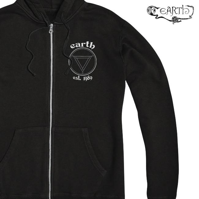 EARTH / アース - 30 YEARS ジップアップパーカー (ブラック)