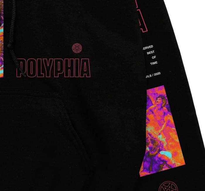 【期間限定】Polyphia / ポリフィア - New Levels New Devils プルオーバーパーカー(ブラック)