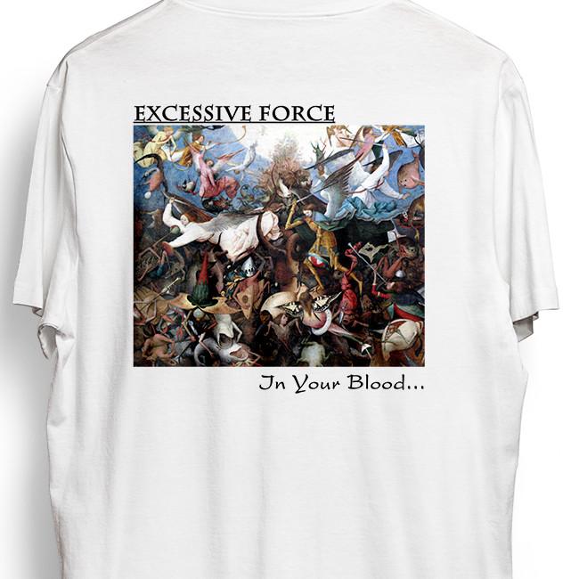Excessive Force / エクセシヴ・フォース - EVERY MAN FOR HIMSELF Tシャツ(ホワイト)