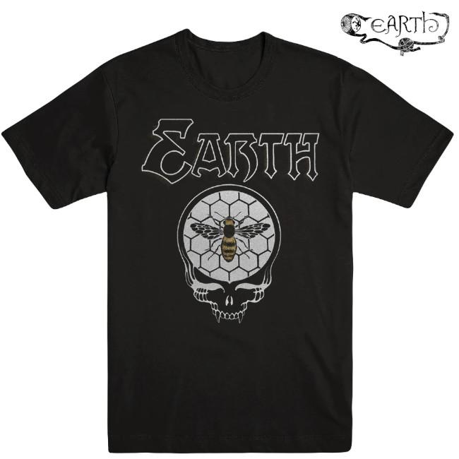 EARTH / アース - BEES SKULL Tシャツ (ブラック)
