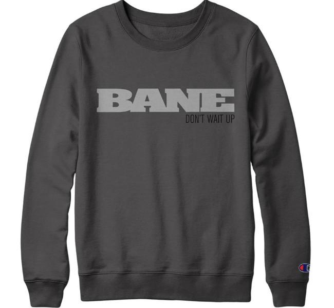 BANE / ベイン - Don't Wait Up Tシャツ(チャコールグレー)
