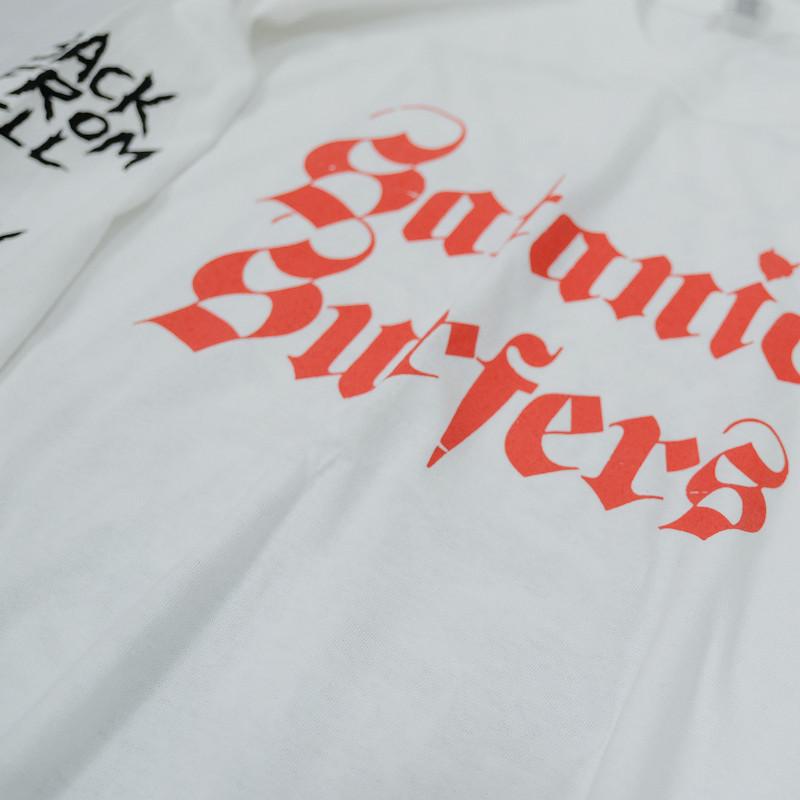 【即納】Satanic Surfers / サタニック・サーファーズ - BACK FROM HELL ロングスリーブ・長袖シャツ(ホワイト)