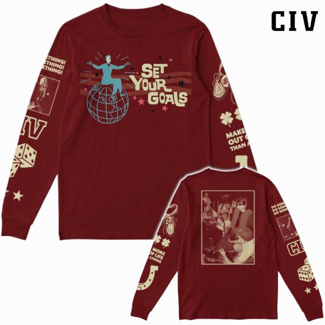 CIV / シブ - Set Your Goals ロングスリーブ・長袖(マルーン)