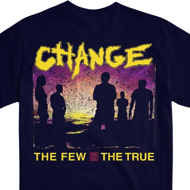CHANGE / チェンジ - THE FEW, THE TRUE Tシャツ(ネイビー)