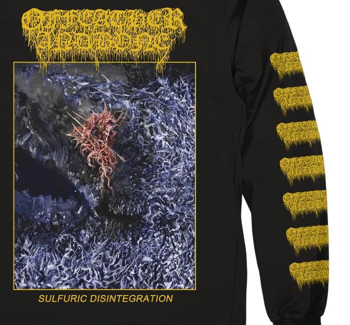 Of Feather And Bone / オフ・フェザー・アンド・ボーン - SULFURIC DISINTEGRATION ロングスリーブ・長袖シャツ(ブラック)