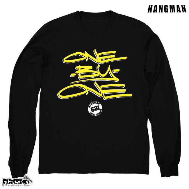Hangman / ハングマン - ONE BY ONE ロングスリーブ・長袖シャツ (ブラック)