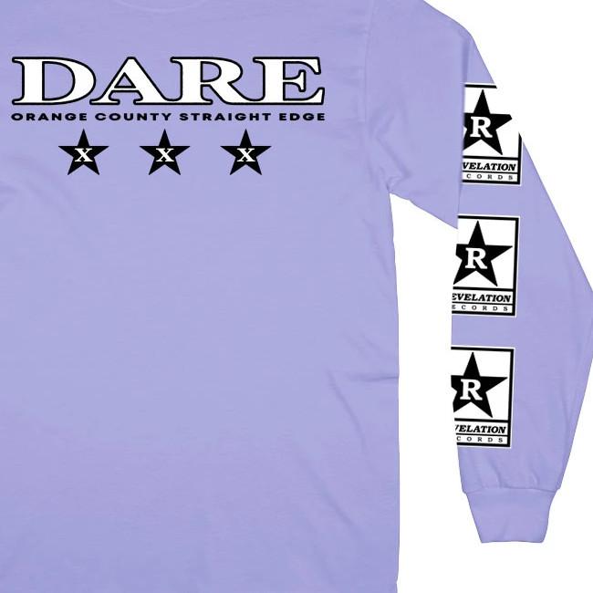 Dare / デア - ORANGE COUNTY STRAIGHT EDGE ロングスリーブ・長袖シャツ(ラベンダー)