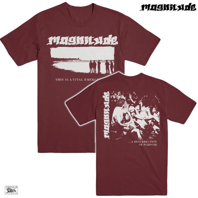 Magnitude / マグニチュード - VITAL EMERGENCE Tシャツ(マルーン)
