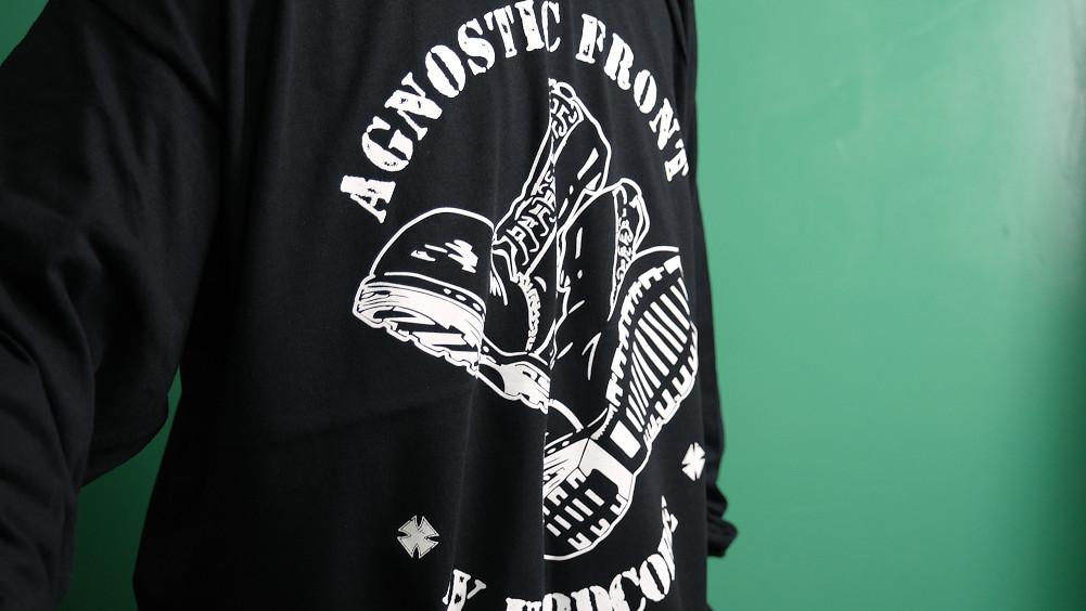 【即納】Agnostic Front / アグノスティック フロント - Boots Skinhead ロングスリーブ・長袖シャツ (ブラック)