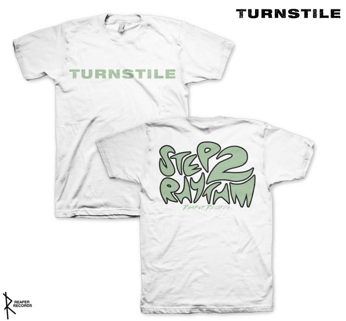 Turnstile / ターンスタイル - Step To RhythmTシャツ (ホワイト)