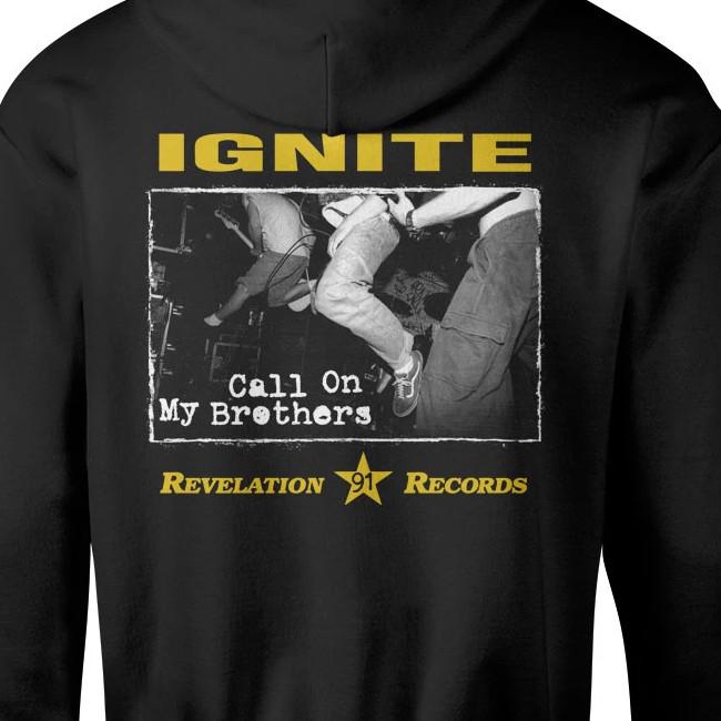 IGNITE / イグナイト - CALL ON MY BROTHERS プルオーバーパーカー (ブラック)