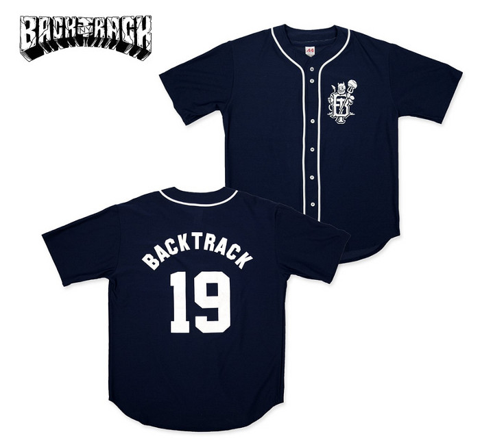 Backtrack / バックトラック - Devil Monogram ベースボールジャージー(ネイビー)