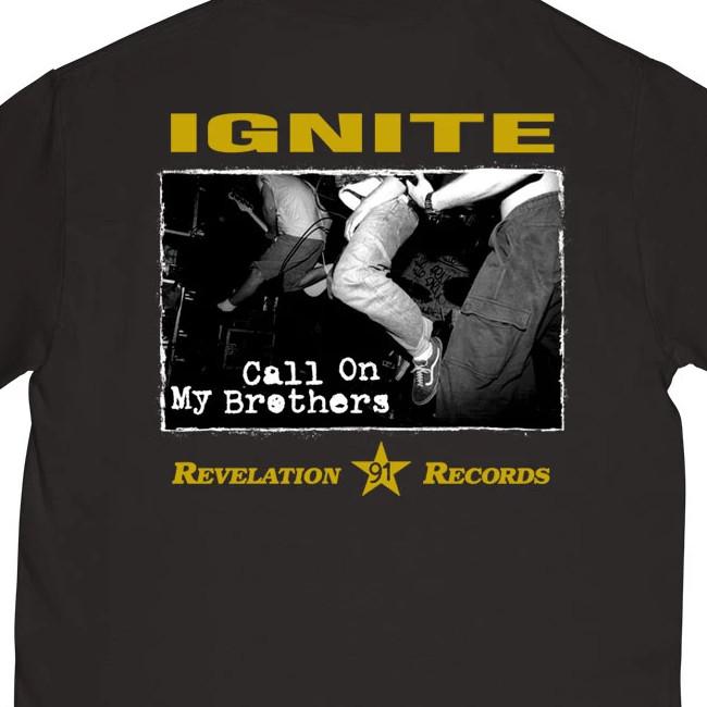 IGNITE / イグナイト - CALL ON MY BROTHERS Tシャツ (ブラック)