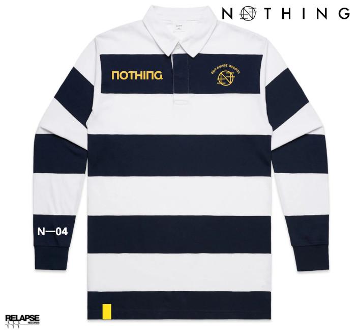 Nothing / ナッシング - THE GREAT DISMAL  ラグビー・ジャージ (ホワイトxネイビー)