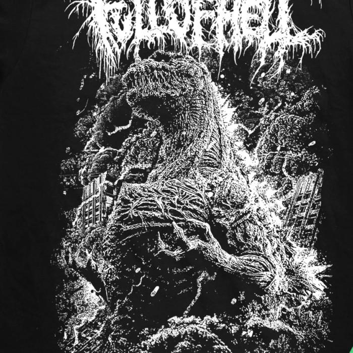 Full Of Hell / フル・オブ・ヘル - SHIN Tシャツ(ブラック)※蓄光プリント