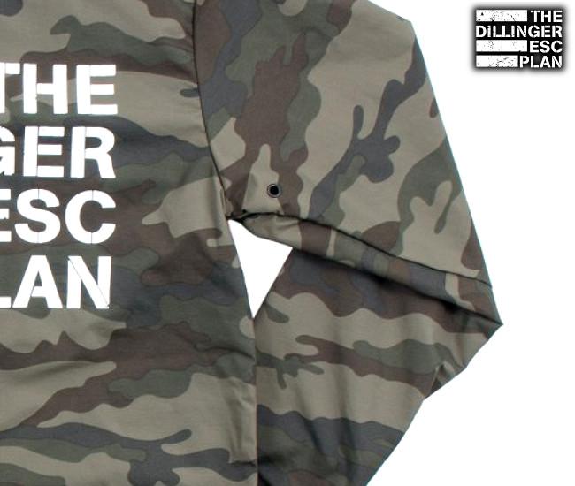 Dillinger Escape Plan/デリンジャー・エスケイプ・プラン - Logo カモ柄・レイン・ジャケット(迷彩)