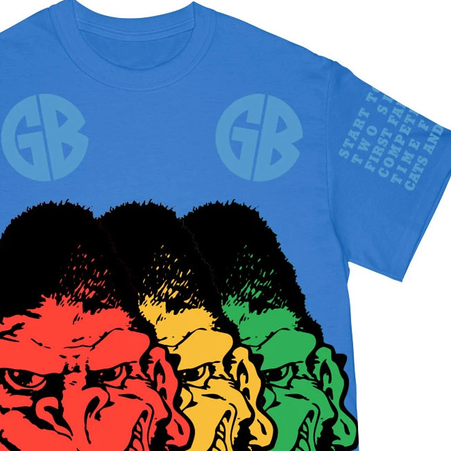 Gorilla Biscuits /ゴリラ・ビスケッツ - GORILLA THREE WAYS 2021 Tシャツ(ブルー)