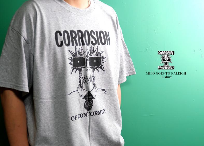 【即納】Corrosion Of Conformity (COC) / コロージョン・オブ・コンフォーミティ - MILO GOES TO RALEIGH Tシャツ(グレー)【世界限定300】