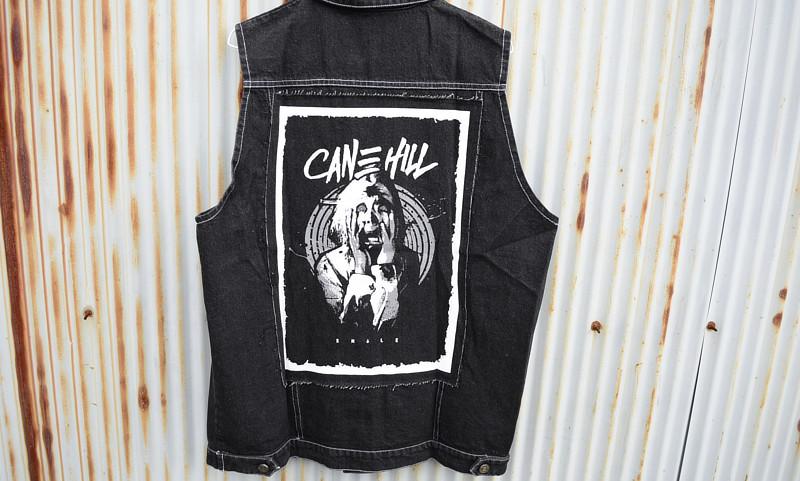 【即納M.XL】Cane Hill / ケーン・ヒル - Zombie デニムベスト(ブラック)