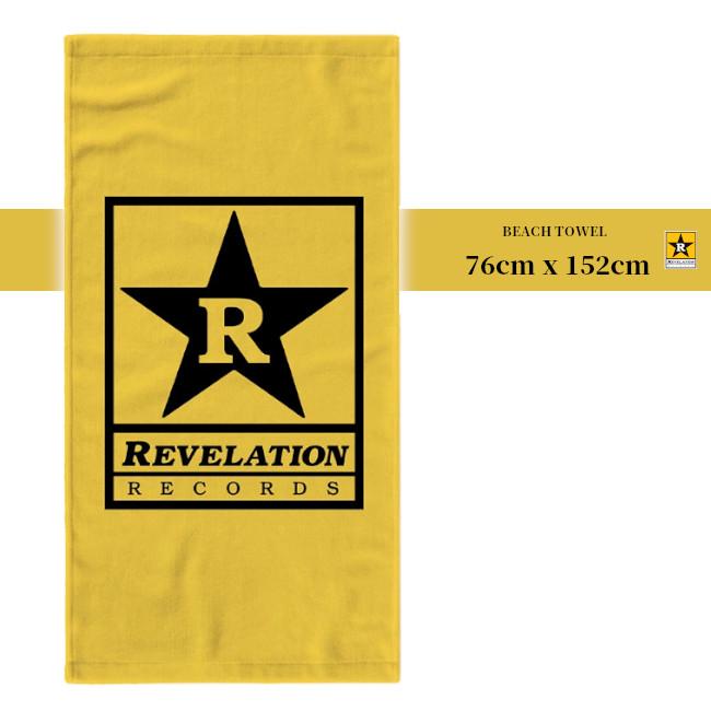 Revelation Records / レヴェレーション・レコード - LOGO ビーチタオル(イエロー)