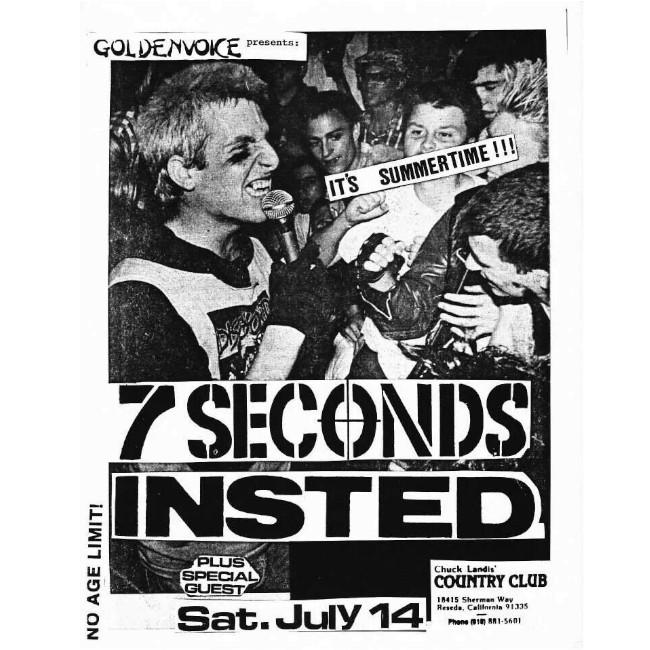 【24時間限定】7 Seconds /セブン・セカンズ - FLYER Tシャツ(ホワイト)7/16夜9時まで
