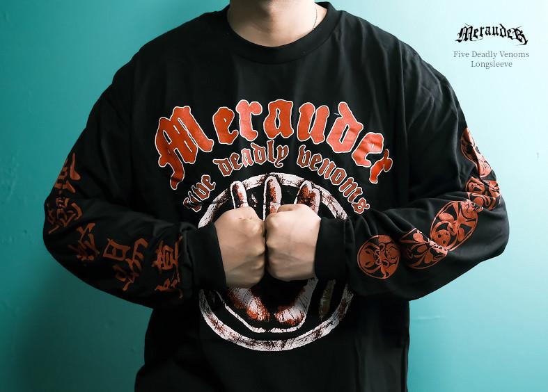【即納】Merauder /メラウダー - Five Deadly Venoms ロングズリーブ・長袖シャツ(ブラック)