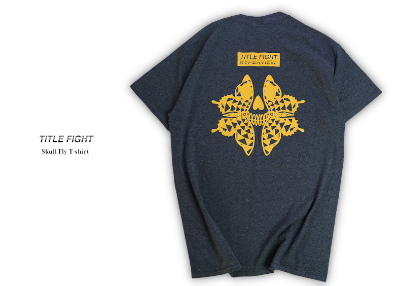 【即納】Title Fight / タイトルファイト - Skull Fly Tシャツ(グレー)