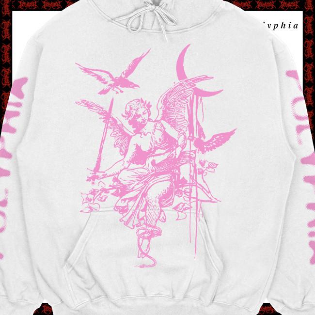 【期間限定】Polyphia / ポリフィア - Angel of Death プルオーバーパーカー(ホワイト)