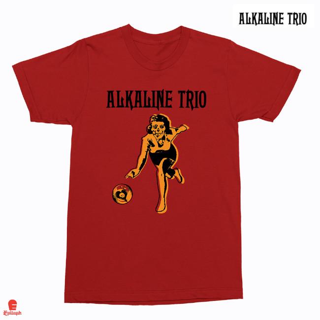 Alkaline Trio / アルカライン・トリオ - Bowler Tシャツ(レッド)