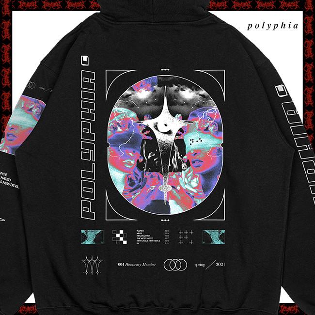 【期間限定】Polyphia / ポリフィア - Cross プルオーバーパーカー(ブラック)