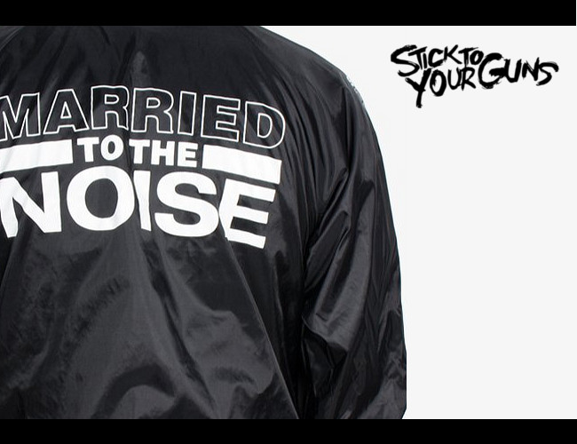 Stick To Your Guns /スティック トゥ ユアー ガンズ - Married to the Noise コーチジャケット(ブラック)