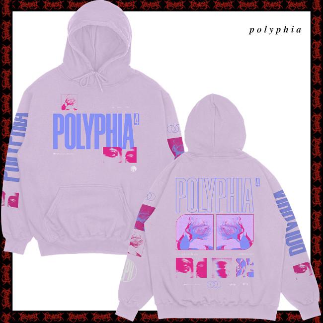 【期間限定】Polyphia / ポリフィア - Members プルオーバーパーカー(ピンク)