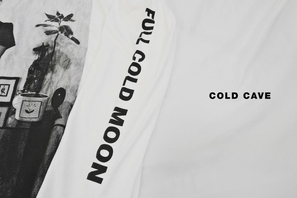 【即納L,XL】Cold Cave / コールドケイブ - FULL COLD MOON ロングスリーブシャツ(ホワイト)
