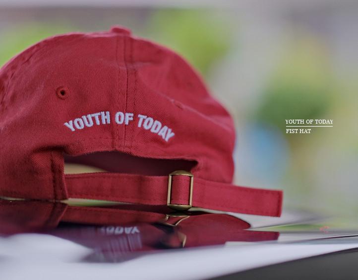 【即納】Youth Of Today /ユース・オブ・トゥデイ - Fist ダッドハット・キャップ(カーディナル)