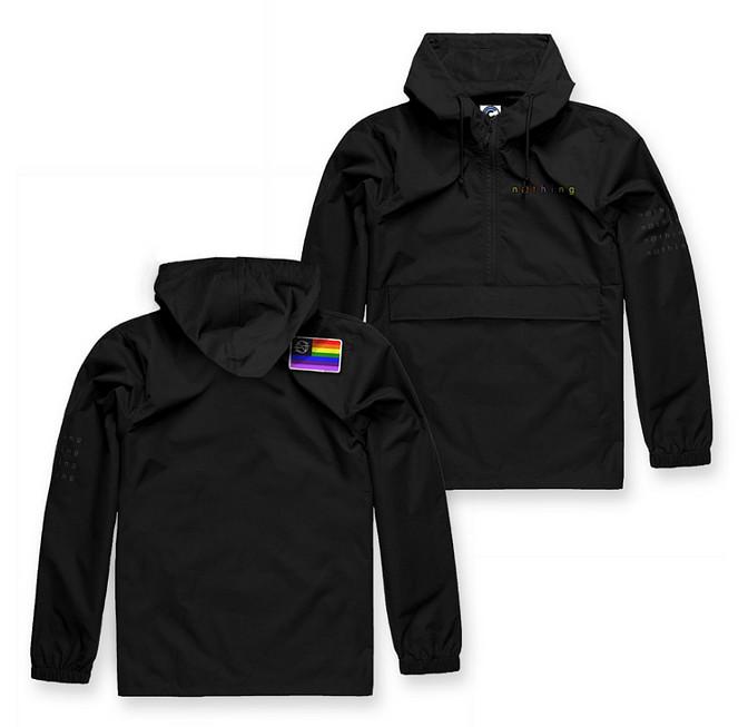 Nothing / ナッシング - Rainbow Flag アノラック・ナイロン・ジャケット(ブラック)3XLあり