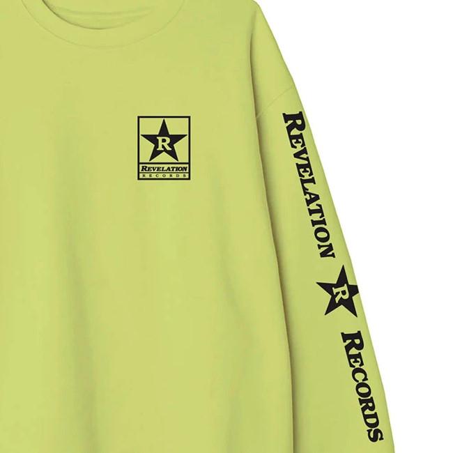 Revelation Records / レヴェレーション・レコード - Logo クルーネック・トレーナー・スウェット(ネオンイエロー)