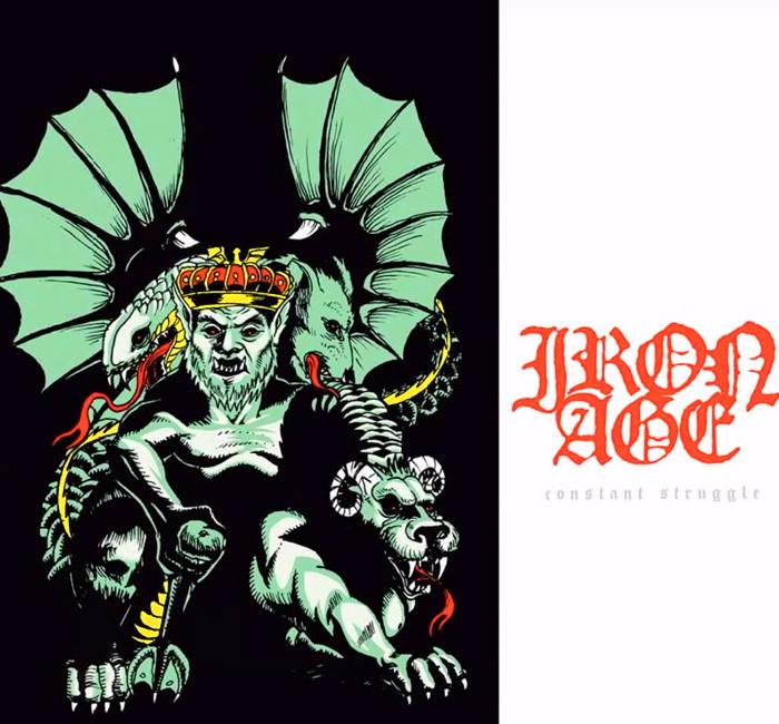 Iron Age / アイアン・エイジ - Constant Struggle プルオーバーパーカー(ブラック)3XLあり