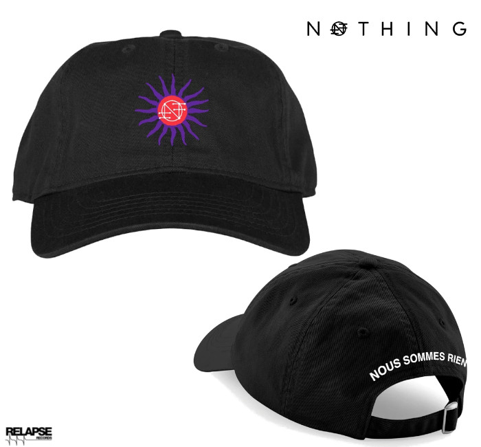 Nothing / ナッシング - NOUS SOMMES RIEN ダッドハット・キャップ (ブラック)