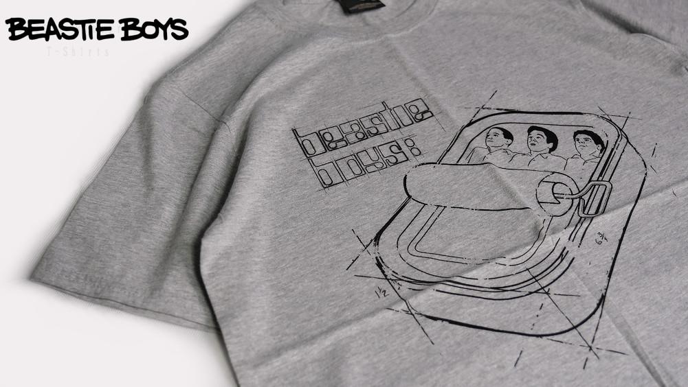 【即納】Beastie Boys /ビースティー・ボーイズ - Sardine Blueprint Tシャツ (グレー)※廃盤