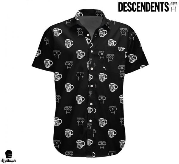 Descendents /ディセンデンツ - Coffee Cup  ボタンダウン・半袖シャツ(ブラック)