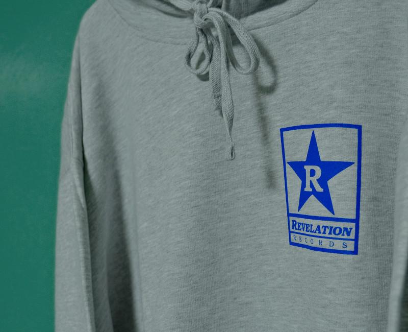 【即納:XL:2XL:3XL】Revelation Records / レヴェレーション・レコード - Logo プルオーバーパーカー(グレー)